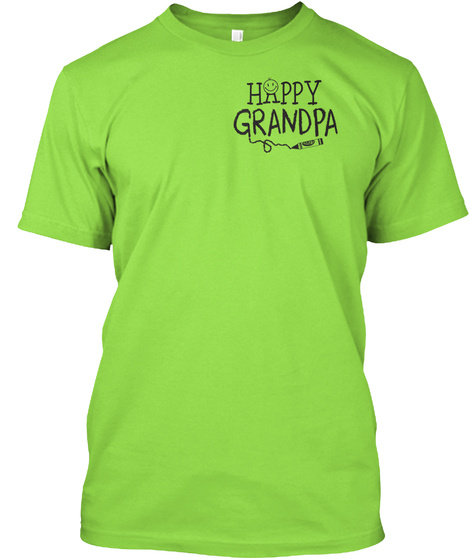 Happy Grandpa Lime T-Shirt Front