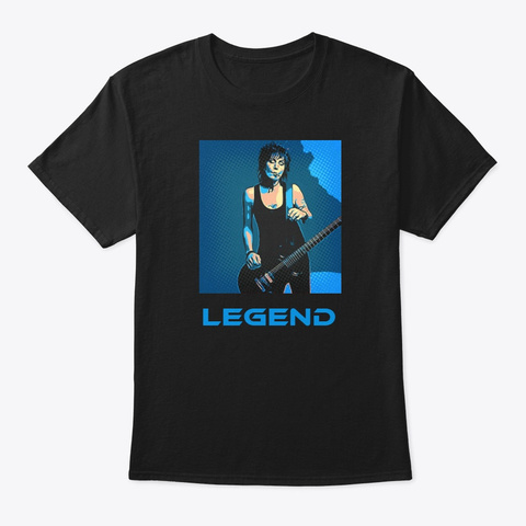 Legends Joan Black T-Shirt Front
