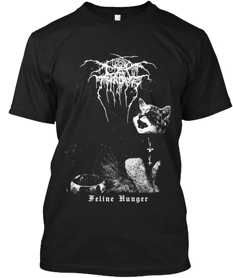 Feline Hunger Black T-Shirt Front