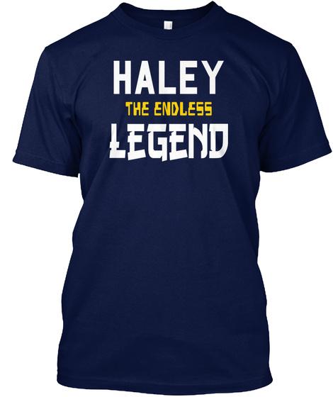 Haley T He Endless Legend Navy T-Shirt Front