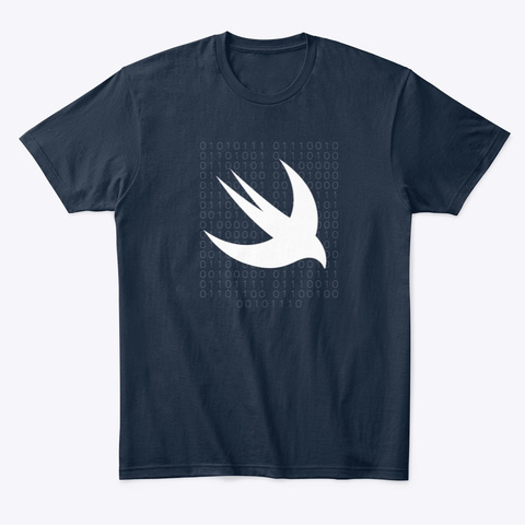 Applecoding  (Swift Logo B) New Navy T-Shirt Front