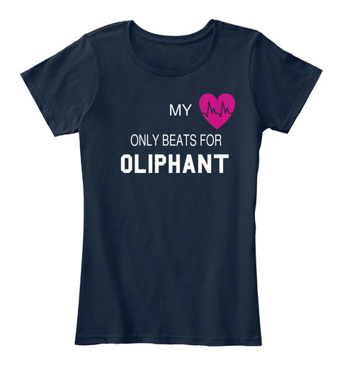 My Only Beats For Oliphant New Navy T-Shirt Front