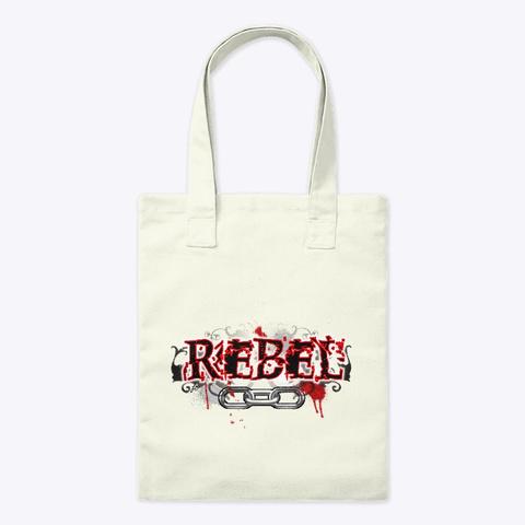 Rebel Natural Tote Bag Front