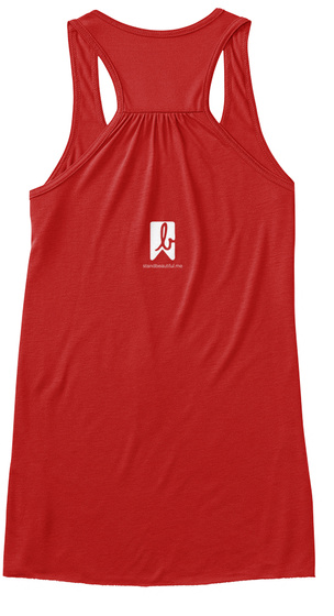 L Red Women's Tank Top Back