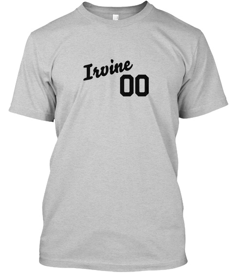 Irvine Varsity Legend Light Steel T-Shirt Front