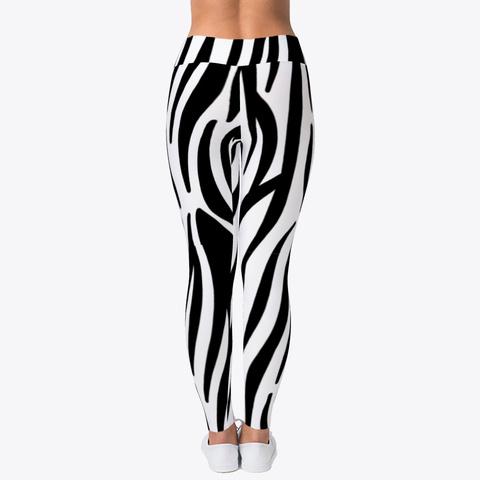 Luxury Zebra Leggings  Standard T-Shirt Back
