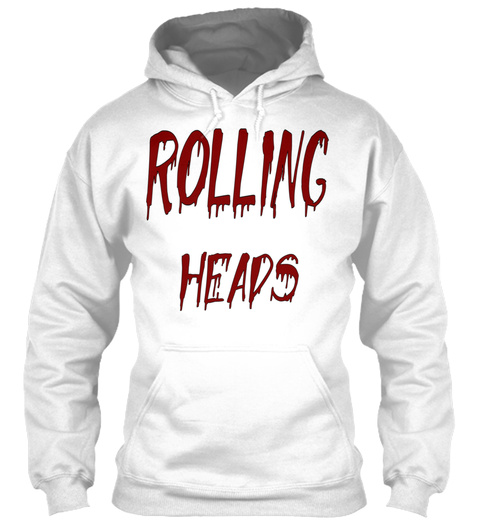 Rolling Heads White T-Shirt Front