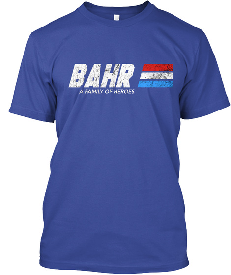 Bahr: A Family Of Heroes Deep Royal T-Shirt Front
