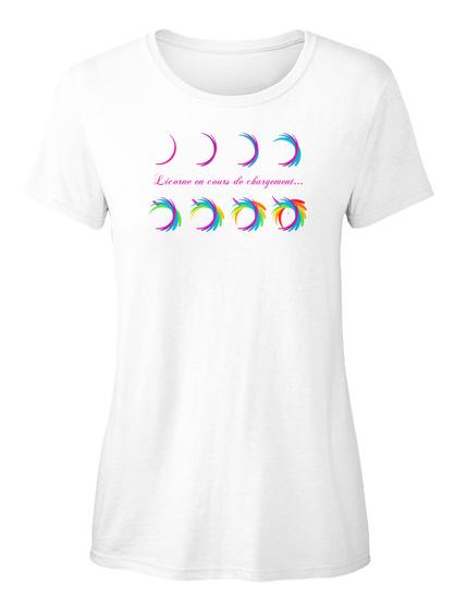 T Shirt   Licorne En Cours De Chargement White T-Shirt Front