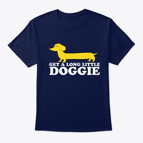 Dog Dachshund Get A Long Little Doggie Navy T-Shirt Front