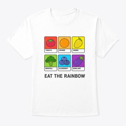 Vegetarian Vegan Shirt Eat The White T-Shirt Front