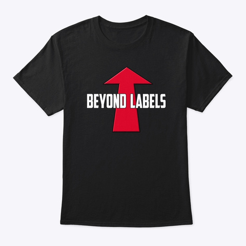 Beyond Labels   Lgbtqia Black T-Shirt Front