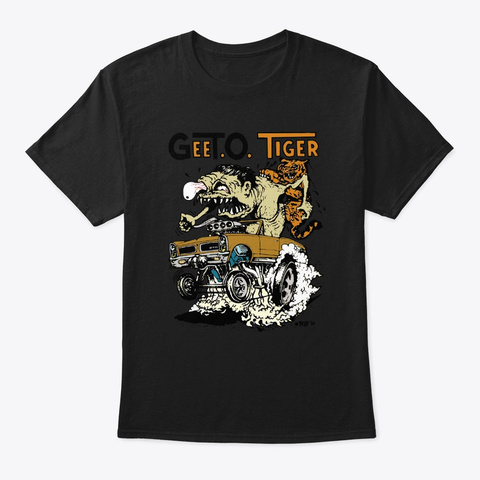 Roth '65 Gee To Tiger Black T-Shirt Front