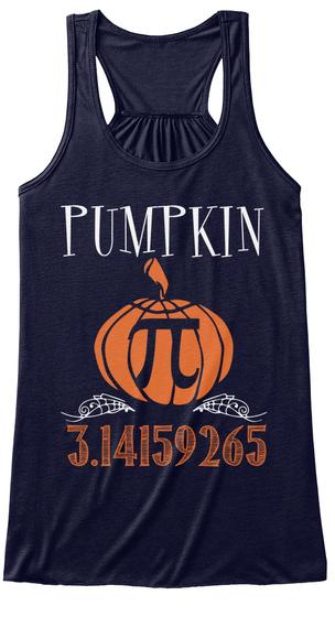 Pumpkin 3.14159265 Midnight Women's Tank Top Front