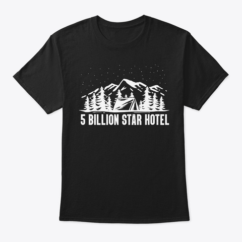 Camping Stars Holidays Adventure Nature Black T-Shirt Front
