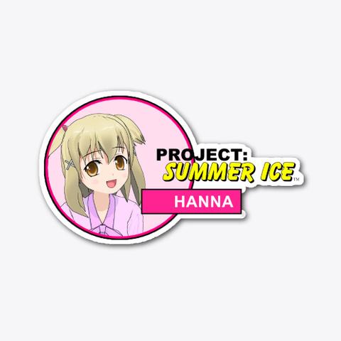 Project: Summer Ice Hanna Sticker (A) Standard T-Shirt Front