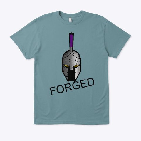 Forged T Shirt  Heather Pacific T-Shirt Front