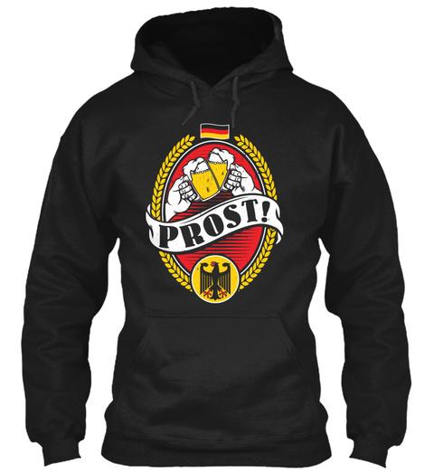 Prost!  Black T-Shirt Front