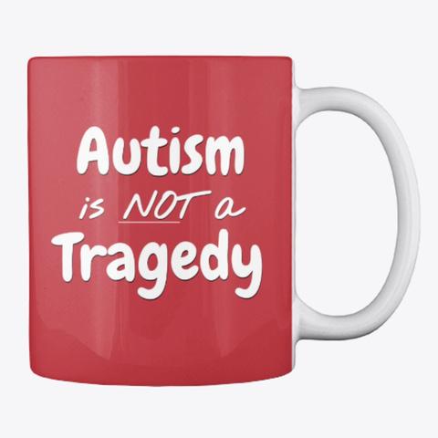 Not Tragedy Mug Bright Red T-Shirt Back