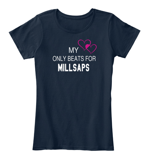 My Only Beats For Millsaps New Navy T-Shirt Front