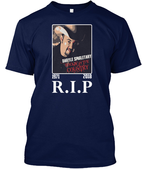 Rip Daryle Singletary T Shirt Navy T-Shirt Front