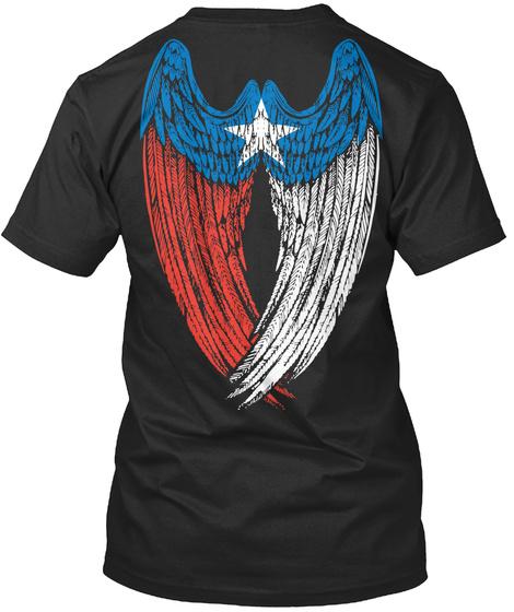 Texas Wings Black T-Shirt Back