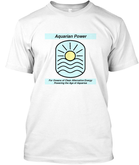 Aquarian Power White T-Shirt Front