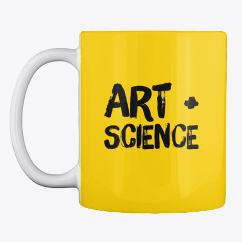Art + Science Lemon Yellow T-Shirt Front