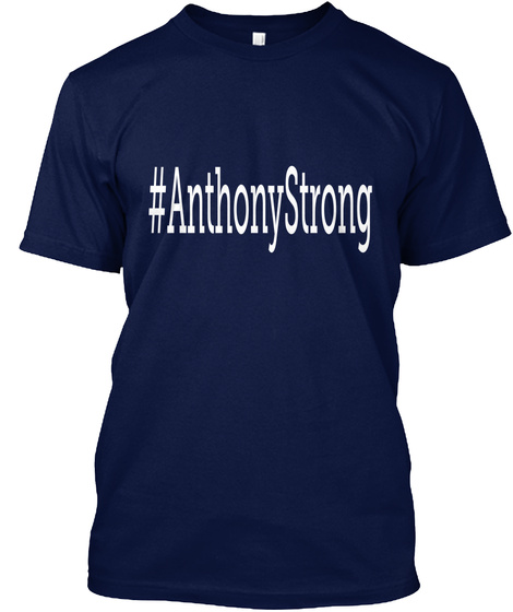 #Anthony Strong Navy T-Shirt Front