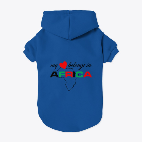 My Heart Belongs In Africa  Blue T-Shirt Back