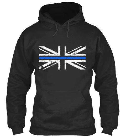 Union Jack Thin Blue Line Jet Black T-Shirt Front