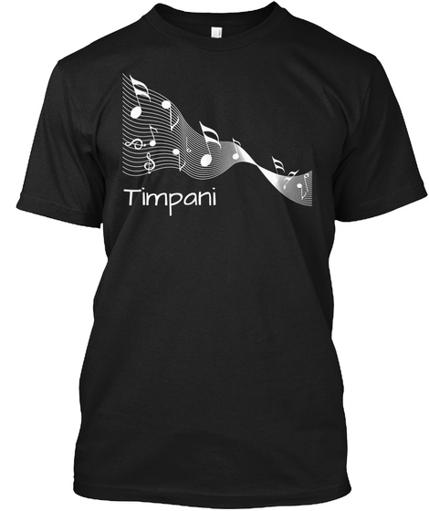 Timpani Black Camiseta Front