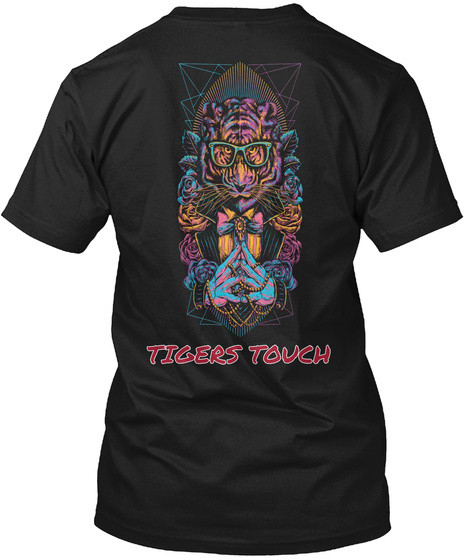 Tigers Touch Black T-Shirt Back