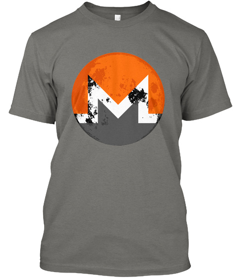 Monero Moon   Grey Grey T-Shirt Front