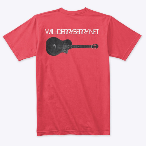 Will Derryberry Guitar Vintage Red T-Shirt Back