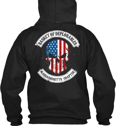 Basket Of Deplorables Massachusetts Chapter Black T-Shirt Back