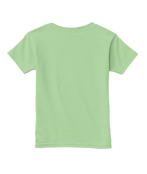 I Only Playdate Vaccinated Kids: Toddler Mint Green T-Shirt Back