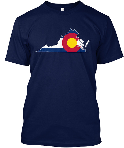 Coloradan Virginian  Limited Edition Navy T-Shirt Front