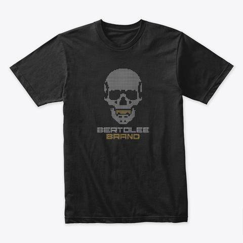 Pixelated Skull Black T-Shirt Front