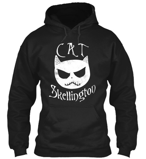 Cat Skellington Black Sweatshirt Front