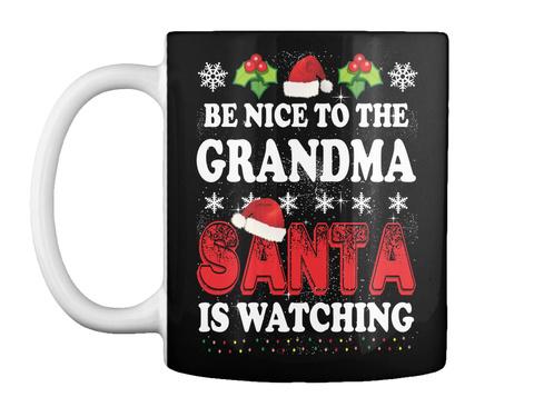 Christmas Coffee Mugs Black Mug Front