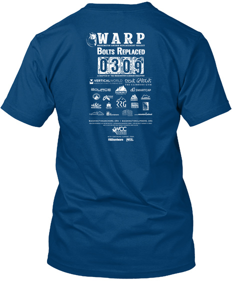 Join The Rebolt! 2019 Cool Blue T-Shirt Back