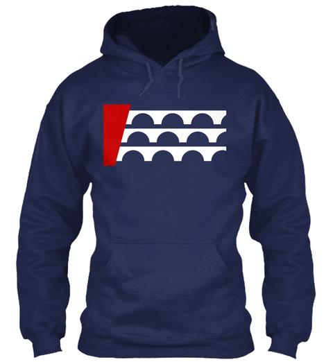Des Moines Flag Shirt Navy T-Shirt Front