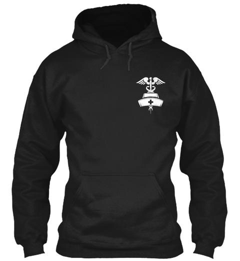 American Nurse Flag Hoodie Black T-Shirt Front