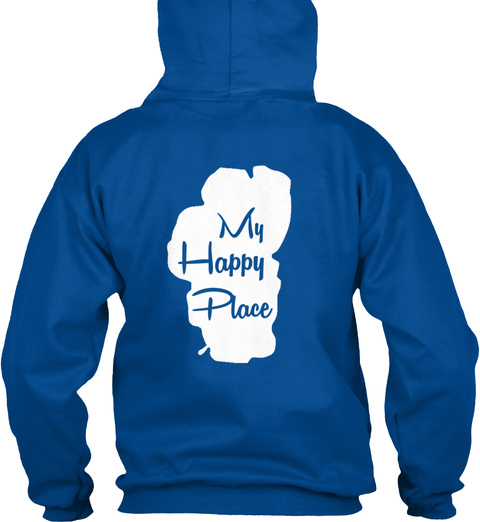 My Happy Place Royal Sweatshirt Back