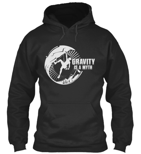 Gravity Is A Myth Jet Black T-Shirt Front