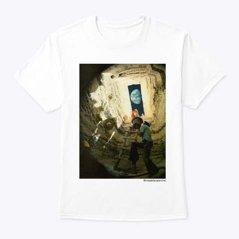 Excavation Surrealist Archeology Collage White T-Shirt Front