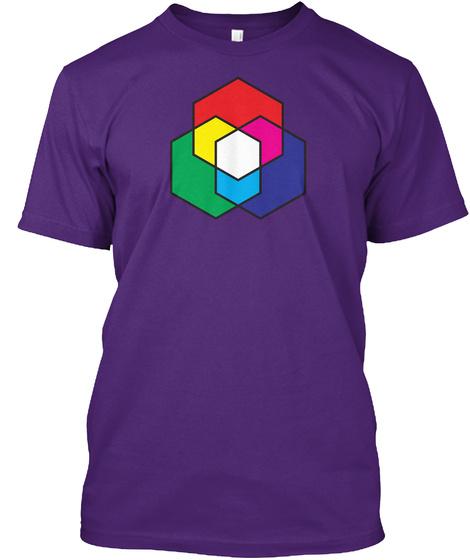Hex Venn Purple T-Shirt Front