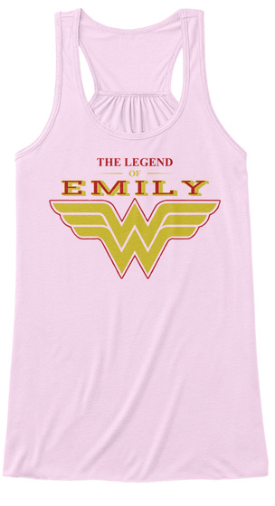 The Legend Of Emily Soft Pink T-Shirt Front