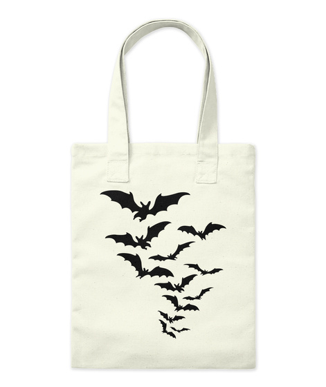 Flying Bat Tote Bag Natural T-Shirt Front